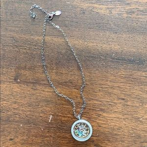 Origami Owl necklace with charms
